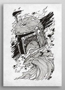 Star Wars Boba Fett | Star Wars Blueprints | Displate