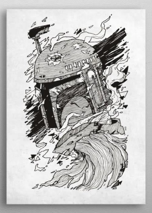 Star Wars Boba Fett   Star Wars Blueprints   Displate