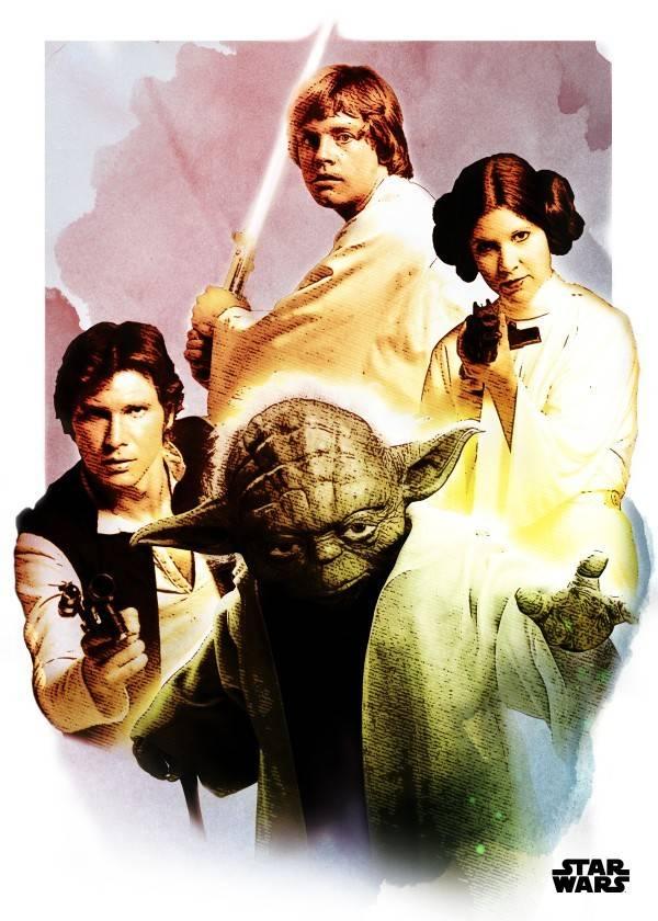 Star Wars The Heroes - Star Wars Iconic Paintings- Displate