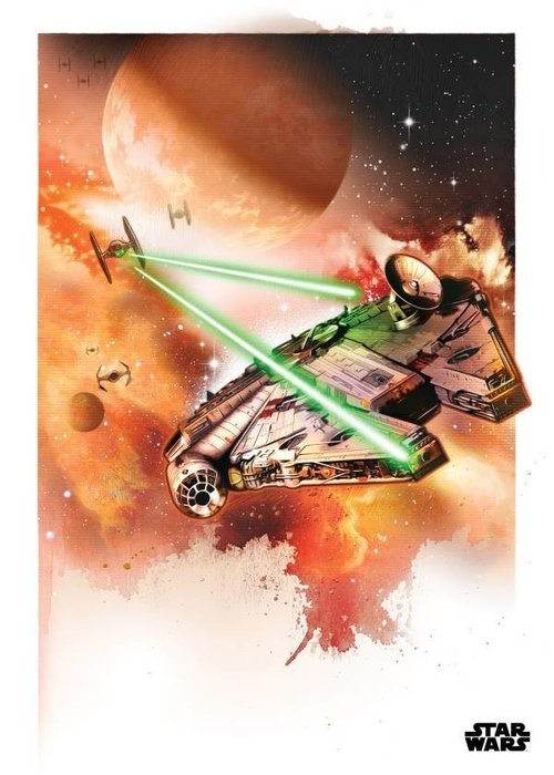 Star Wars The Millennium Falcon  | Star Wars Iconic Paintings