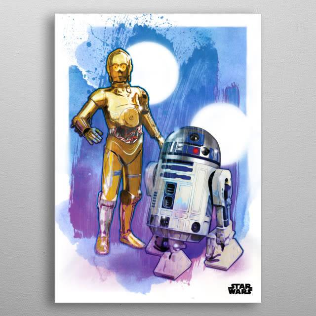 Star Wars The Droids - Star Wars Iconic Paintings- Displate