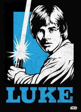Star Wars Luke Skywalker - Star Wars Icons Posters - Displate