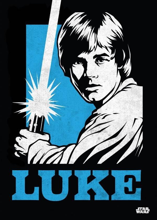 Star Wars Luke Skywalker - Star Wars Icons Posters - Displate