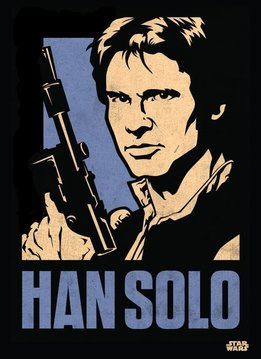 Star Wars Han Solo | Star Wars Icons Posters | Displate