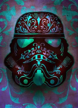 Star Wars Fluid | Masked Trooper |s Displate