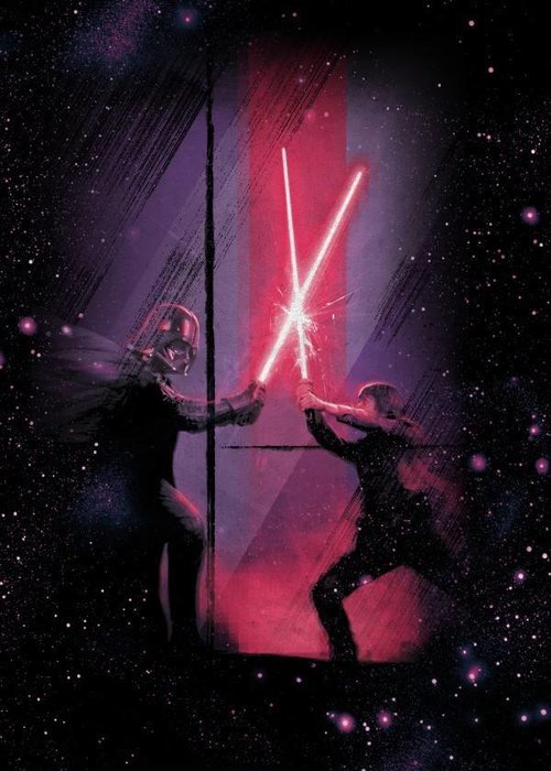 Star Wars Luke Vs Vader   Retro Wars   Displate