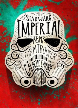 Star Wars Doodle - Star Wars Masked Troopers Displate