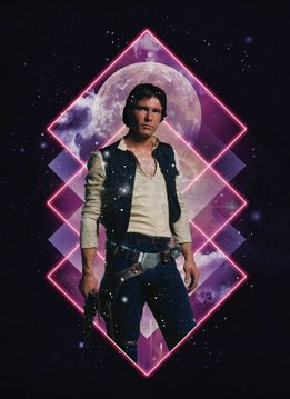 Star Wars Han Solo - Retro Wars - Displate