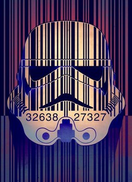 Star Wars Barcode - Masked Troopers - Displate