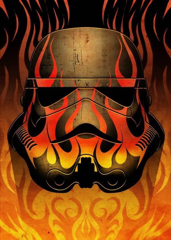 Star Wars Flames - Masked Troopers - Displate