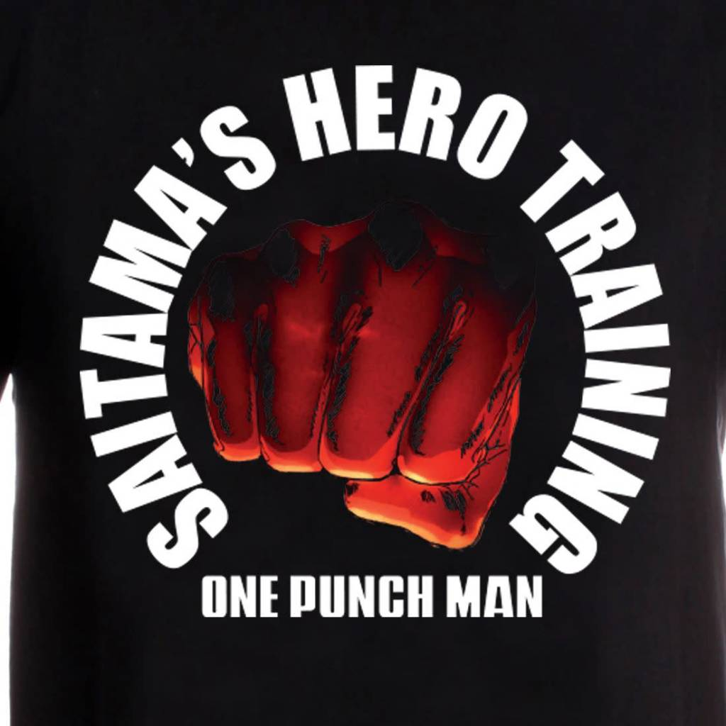 One Punch Man Saitama Hero Training   One Punch Man   T-Shirt