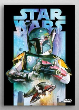 Star Wars Boba Fett   Dark Side vs Light Side   Displate