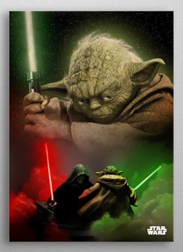 Star Wars Yoda -Dual of The Fates- Displate