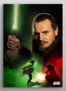 Star Wars Qui-Gon Jin -Duel of The Fates- Displate
