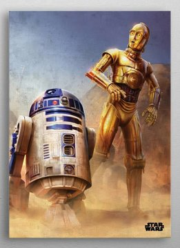 Star Wars Droids -Episode IV A New Hope-Displate