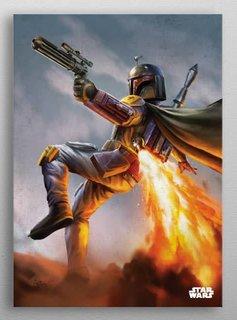 Star Wars Boba Fett -Episode IV A New Hope-Displate