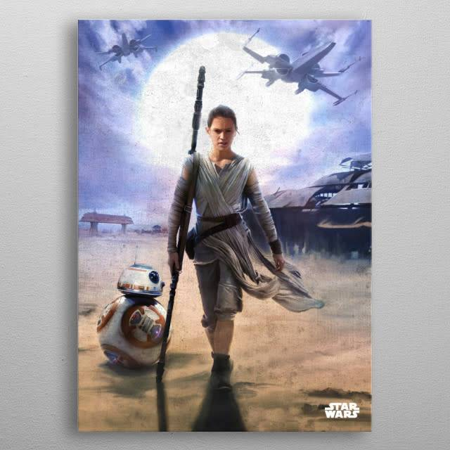 Star Wars Rey and BB-8 -The Force Awakens- Displate