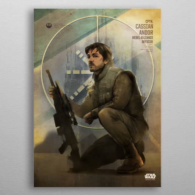 Star Wars Cassian Andor -Rogue One Key Forces-Displate