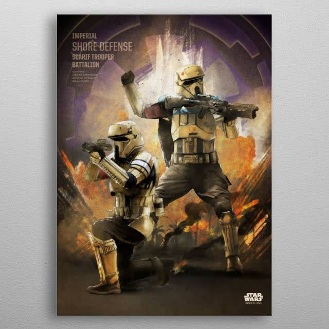 Star Wars Scarif Trooper -Rogue One Key Forces-Displate