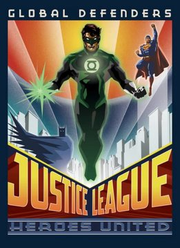 Displate Global Defenders - Justice League Retro - Displate