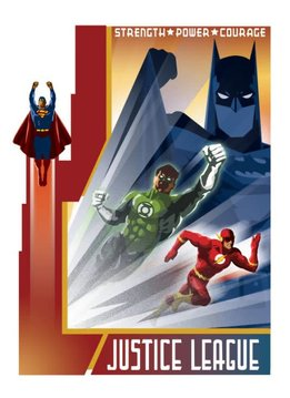 DC Comics Join The League - Justice League Retro - Displate