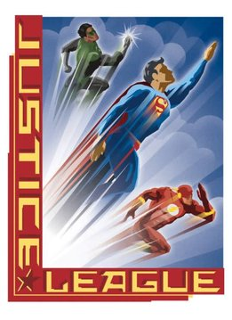 Displate Heroic Age - Justice League Retro - Displate