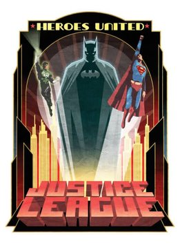 Displate Heroes United - Justice League Retro - Displate
