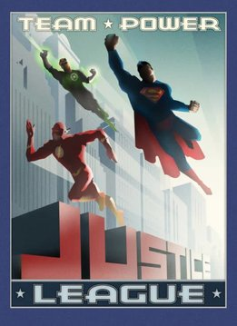 DC Comics Team Power - Justice League Retro - Displate