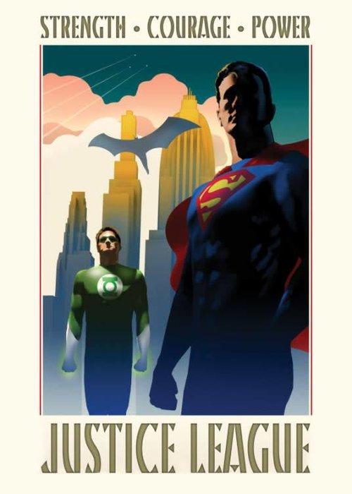 DC Comics Strength Courage Power  |  Justice League Retro