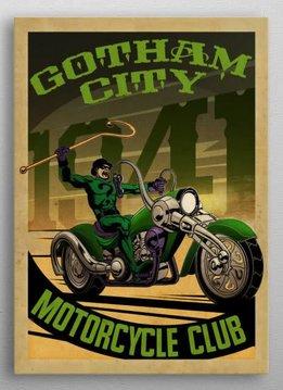 Displate Riddler Rider - Gotham City Motorcycle Club - Displate