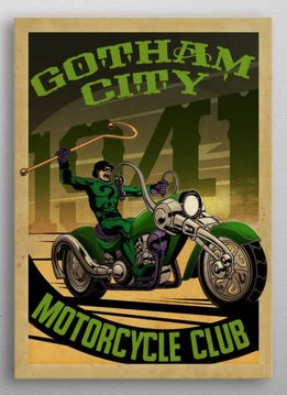 Displate Ridler Rider - Gotham City Motorcycle Club - Displate