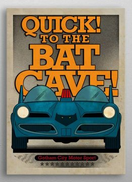 Displate Batmobile 1966 - Gotham City Motorcycle Club - Displate