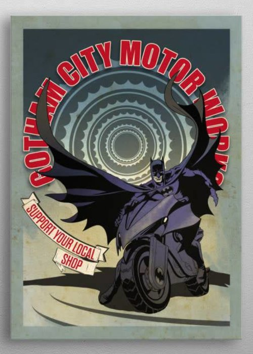 DC Comics Modern Batcycle  | Gotham City Motorcycle Club