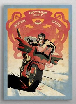 Displate Nightwing Bike - Gotham city Motorcycle Club - Displate