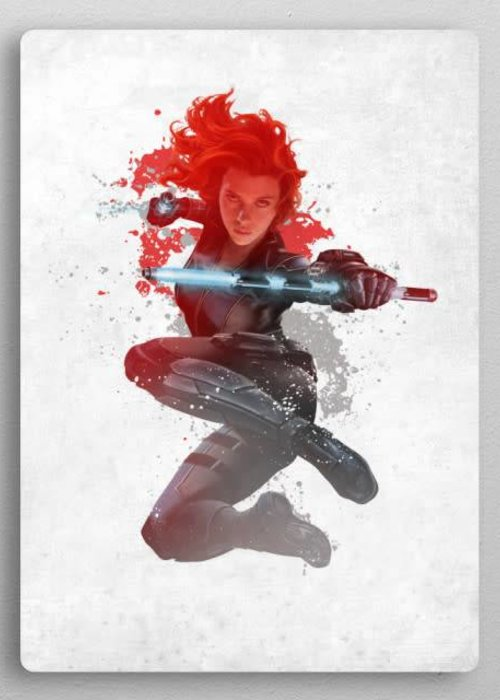 Marvel Black widow | Civil War Red White & Blue