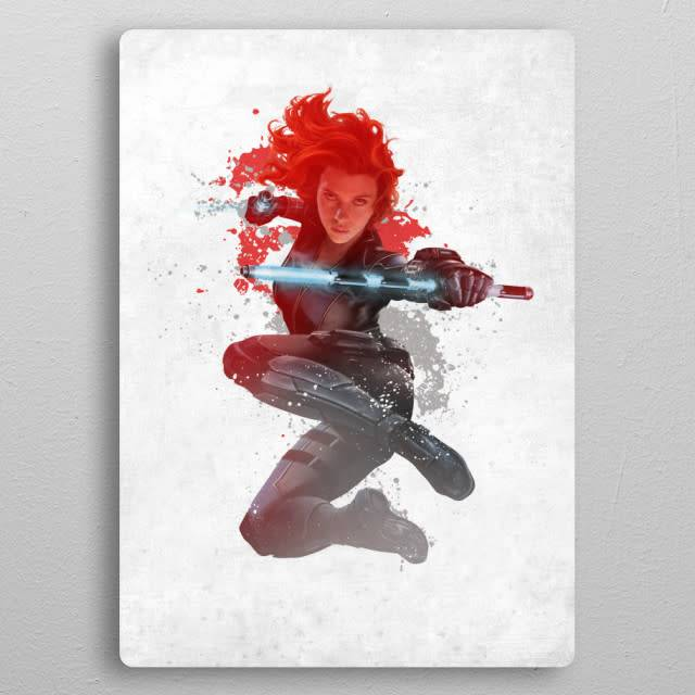 Marvel Black widow - Marvel Civil War Red White & Blue Displate