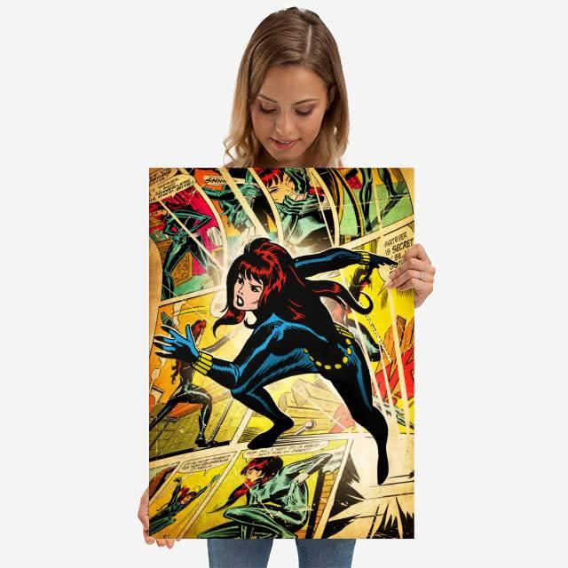 Displate Black Widow - Marvel silver age - Displate