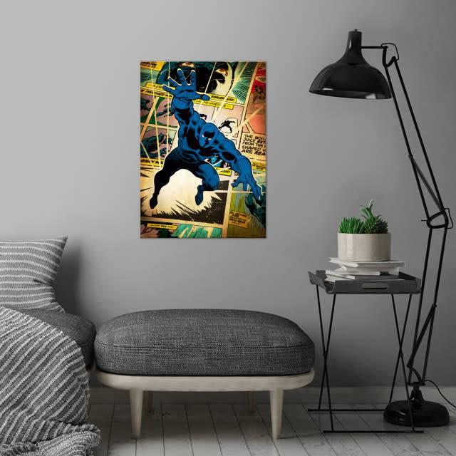 Displate Copy of Black  Panther - Marvel silver age - Displate