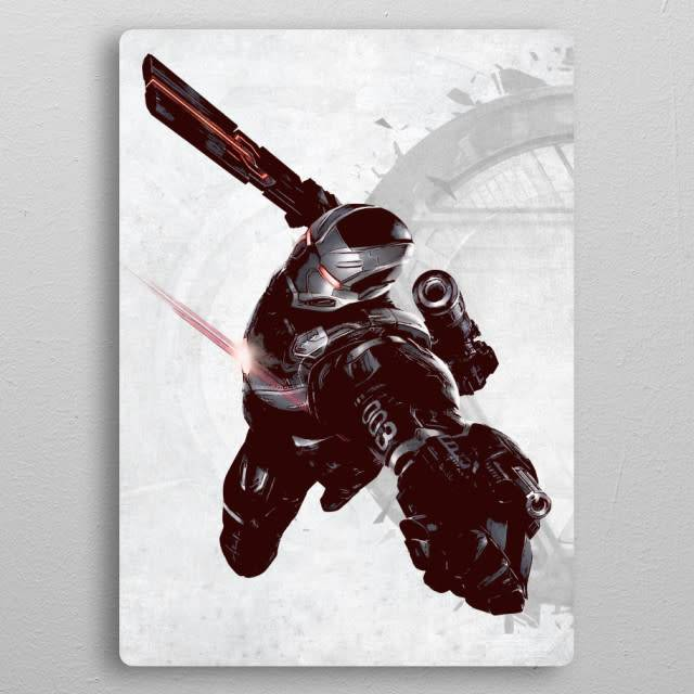 Displate War Machine - Civil War United We Stand - Displate