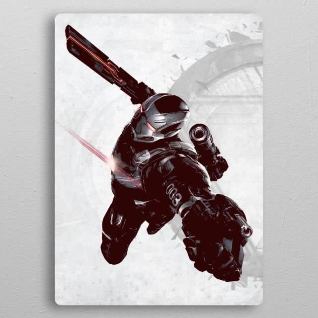 Displate War Machine | Civil War United We Stand | Displate