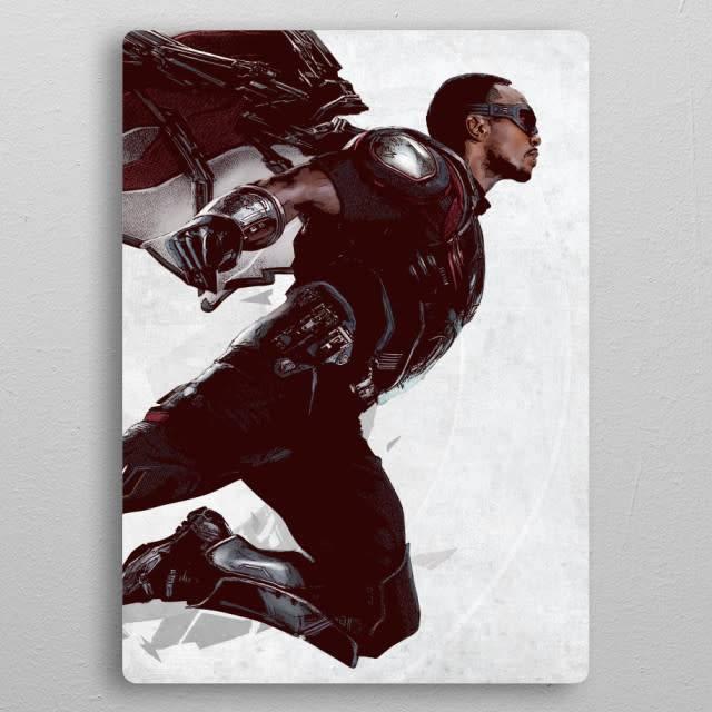 Displate Falcon - Civil War United We Stand - Displate