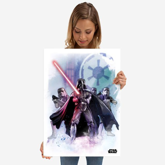 Star Wars The Dark Lord - Star Wars Iconic Paintings- Displate