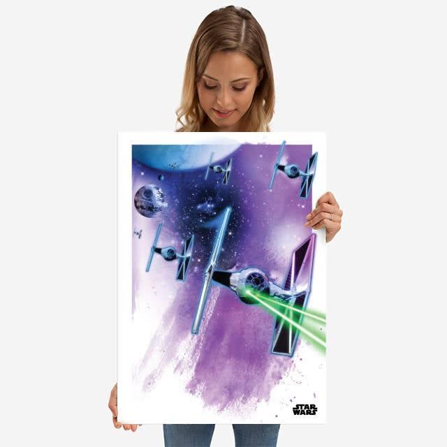 Star Wars Tie Fighters - Star Wars Iconic Paintings Displate