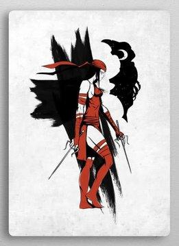 Displate Elektra | The Defenders | Displate
