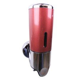 Bathweb Zeepdispenser rood | chroom 400 ml