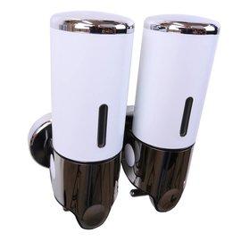 Bathweb Zeepdispenser Wit met 2 reservoirs van elk 400 ml