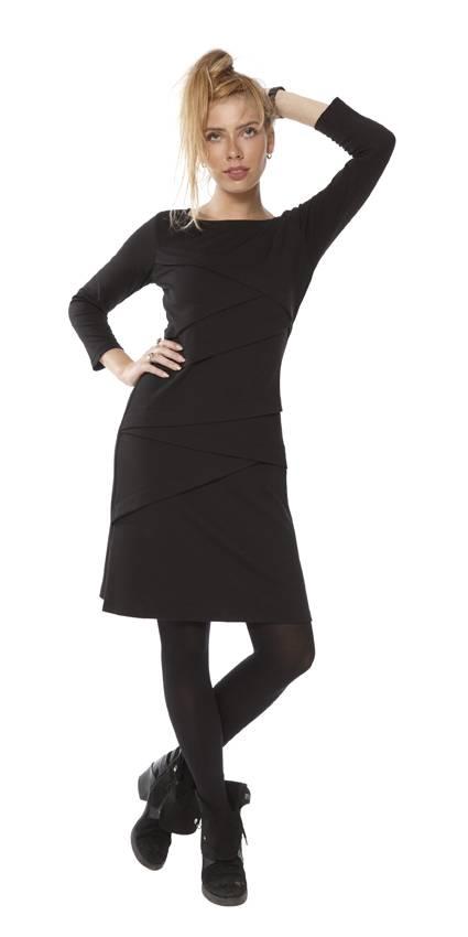 TESSA KOOPS CHANTAL NERO DRESS