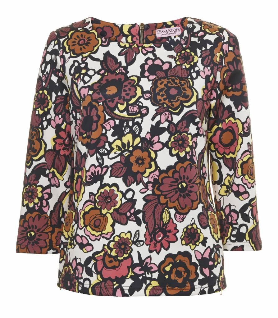 TESSA KOOPS BOXY FLOWER TOP