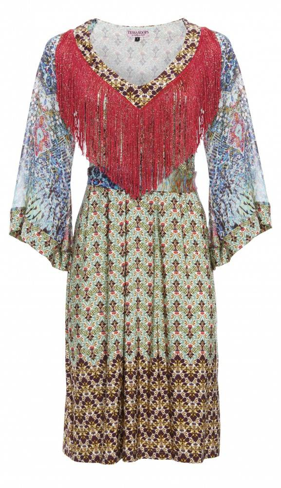 TESSA KOOPS LISA LIBERTY FRINGES KLEID