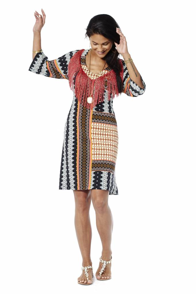 TESSA KOOPS RIHANNA CUBA FRINGES DRESS
